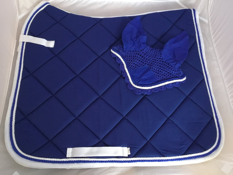 Pinnacle CC Saddle Pad Royal Blue /& White