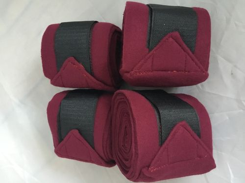 Pinnacle Fleece Bandages - Burgundy