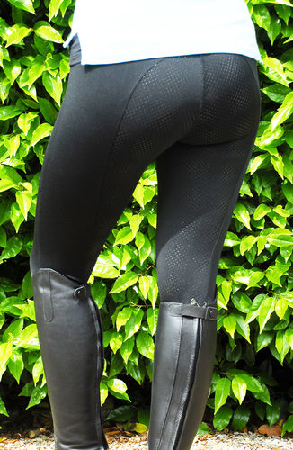 Rhinegold Perfomance Riding Tights with Full Silicone Seat & Pocket - Black