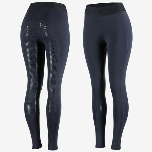 Horze Madison Women's Silicone Full Seat Tights - Dark Blue
