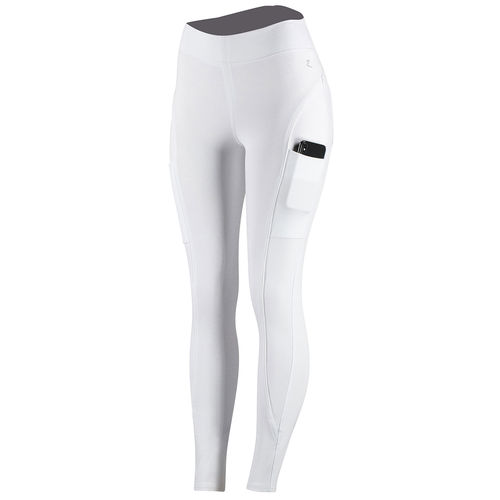 Horze Brea Women's Silicone Full Seat Riding Tights with Phone Pocket - White - SOLD OUT