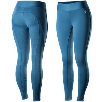 Horze Active Silicone FS Tights - Petrol Blue (ITB)
