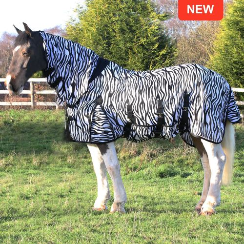 Gallop 200msg Mesh Zebra Fly Rug with Fixed Neck - All Sizes