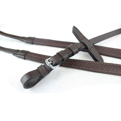 Gallop Economy Leather Rubber Reins