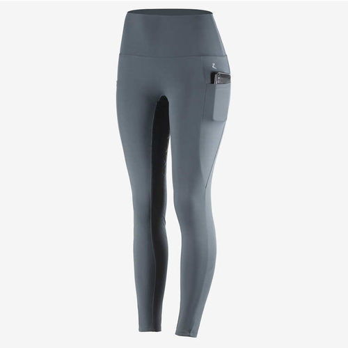 Horze Gracie Womens All Season Silicon FS Riding Tights with Phone Pocket - Grey- SOLD OUT
